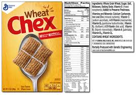 rice chex ings label