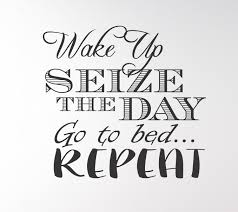 Wake Up Seize The Day Go To Bed Repeat Wall Decal 9 99 Arise Decals