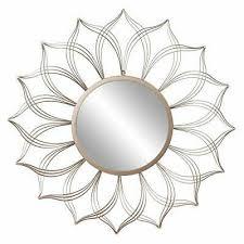flower petal wall accent mirror