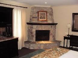 corner fireplace ideas in stone