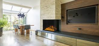 3 sided built in electric fireplace