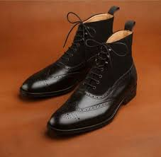 black wing tip brogue lace up