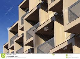 Modern Building Balcony Detail Against Blue Sky Stock Image Image Of Background Blue 117782633
