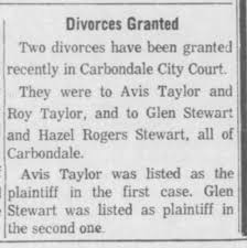 Divorce Granted to Roy and Avis Taylor - Newspapers.com