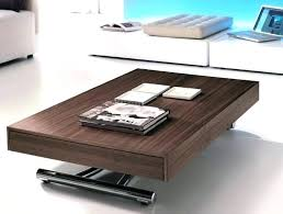 coffee table adjustable height dining