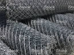 Rolled Chainlink Fence Metal Mesh Netting Rolled Into Rolls Stock Photo Download Image Now Istock