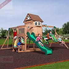skroutz wooden swing sets cedar kids