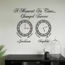 A Moment In Time Clock Wall Art Memory Clocks Wall Art Clock Wall Art Wall Art Memories Decal Wall Art