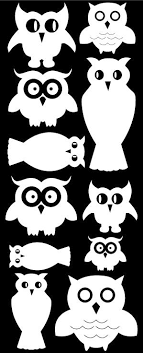 Owl Wall Decals Owl Nursery Kids Decals Whimsidecals