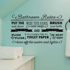 Bathroom Rules Elegant Wall Quotes Decal Wallquotes Com