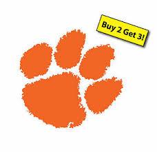 Clemson Tigers Orange Paw Print Decal Sticker Car Truck Cornhole Boards P226 Ebay