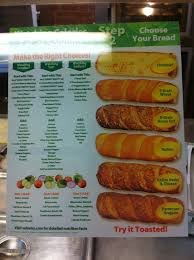 bread choices and nutritional info