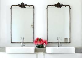metal framed mirror bathroom wall