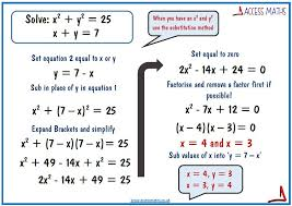 solve simultaneous equations one linear