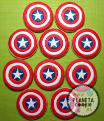 Capitan America Planeta Cookie