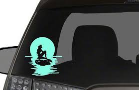 Ariel On The Water Car Decal Little Mermaid Inspired Disney Arial Disney Car Decals Car Decals Car Craft