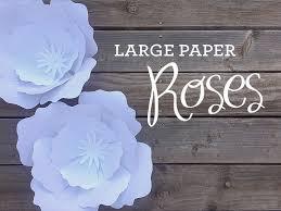 paper roses plus a free petal template