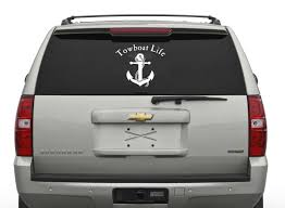 Towboat Life Car Decal Towboater Deckhand Captain Car Decals Vinyl Car Car Decals