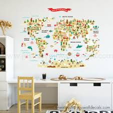 Map Of World Wall Decal Kids Wall Decals Removable Wallpaper Wall Murals Just For You Decals