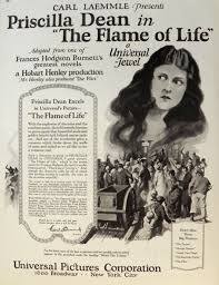 1923 Priscilla Dean Movie Ad ~ The Flame of Life, Vintage Movie Ads