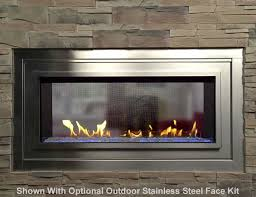 see through vent free linear fireplace