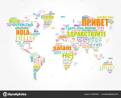 Hello in different languages word cloud — Stock Vector © dizanna ...