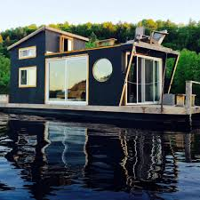 living in a floating tiny house