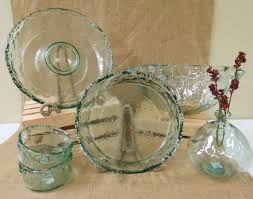 rustic recycled glass serveware ot