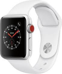 Best Buy: GSRF Apple Watch Series 3 (GPS + Cellular) 38mm Silver Aluminum  Case with White Sport Band Silver Aluminum GSRF MTGG2LL/A