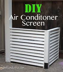 How To Hide Your A C With A Diy Wood Screen Air Conditioner Hide Air Conditioner Screen Outdoor Diy Projects