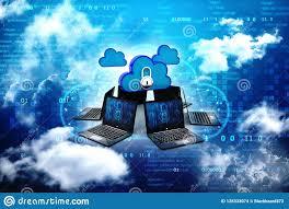 Núblese La Computación, Nube Con El Ordenador En Fondo Abstracto ...