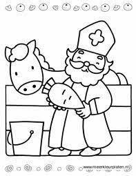 Kleurplaten Sint Sinterklaas Knutselen Sinterklaas Kleurplaten