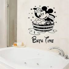 Amazon Com Mickey Minnie Mouse Wall Art Decal Sticker Mickey Mouse Bathroom Wall Decal Vinyl Stickers For Bath Toilet Kids Bath Waterproof Window Wall Home Kitchen