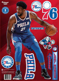 Philadelphia 76ers Joel Embiid Decal Pack By Fathead Wells Fargo Center Official Online Store