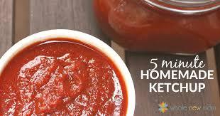 easy homemade ketchup recipe no sugar