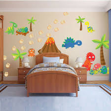 Colorful Dinosaur Footprints Dinosaur Eggs Wall Stickers Kids Room Vinyl Decor Ebay