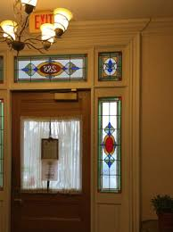 stained glass panels on entry door