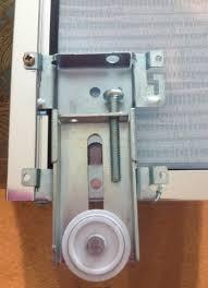 sliding mirror closet door roller