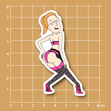 Rick and Morty Sexy Summer Smith waterproof PVC sticker for Fixed Gear Car  Suitcase Notebook Refrigerator Skateboard|pvc ruler|pvc swimsuitsticker kit  - AliExpress