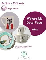 Hayes Paper Co White Inkjet Waterslide Decal Paper A4 And A3 Size Hayes Paper Co