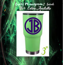 Monogram Decal For Your Rambler Tumbler Cup 3 Initial Buy One Get One Free 3