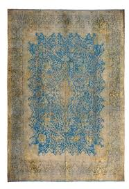 blue overdyed persian rug persian
