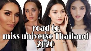 Road to miss universe Thailand 2020 -สเต็ปการเดินชุดว่ายน้ำ swimsuit- (Veena,Tharina,first,pantawan)  - YouTube