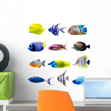 Colorful Tropical Fish Collection Wall Decal Sticker Set Wallmonkeys Com