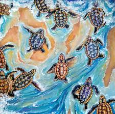 Baby Turtles Watercolor Painting: 1/1000 of a Mass Emergence — Steemit