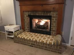 3 person fireplace bench cushion