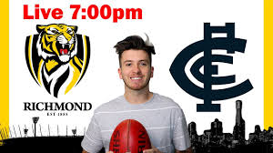 Richmond vs Carlton Round 1 AFL 2020 ...