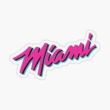 Miami Stickers Redbubble