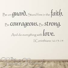 Bible Verse Wall Decal 1 Corinthians 16 13 Do Everything With Love Removable Wall Decals