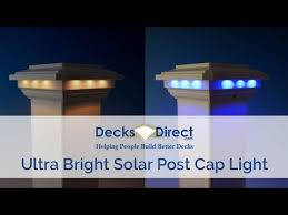 Solar Post Cap Light For 4 Inch Post Sleeves By Ultra Bright Technologies Youtube